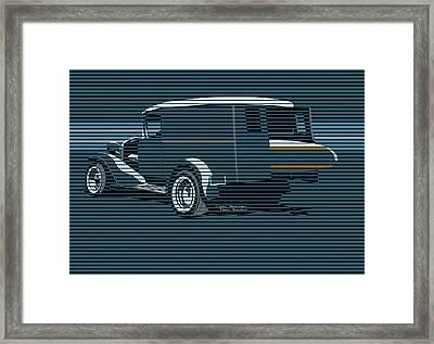 Surf Truck Ocean Blue Framed Print by MOTORVATE STUDIO Colin Tresadern