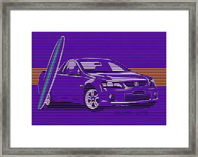 Surf Ute Purple Haze Framed Print by MOTORVATE STUDIO Colin Tresadern