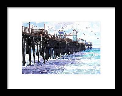 Oceanside Framed Prints