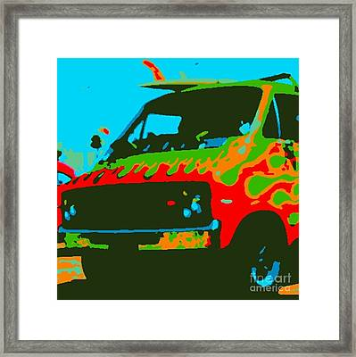 Surf Wagon Framed Print by James Eye