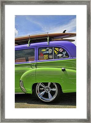 Surf Wagon Framed Print by Kenny Francis