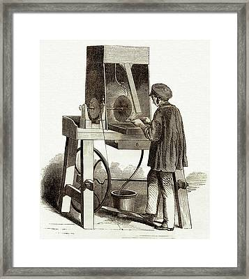 Surface Finishing Machine Framed Print by Sheila Terry