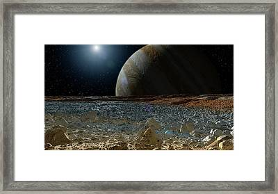 Surface Of Europa Framed Print by Nasa