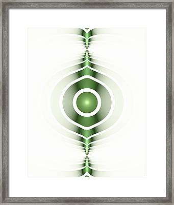 Surface Waves - Green Framed Print by Anastasiya Malakhova