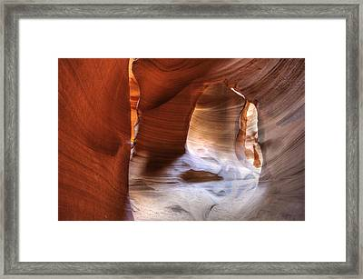 Surfaces Of Antelope Canyon Framed Print