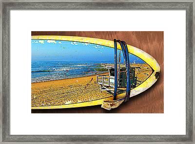 Surfboard Dreams Framed Print by Ron Regalado