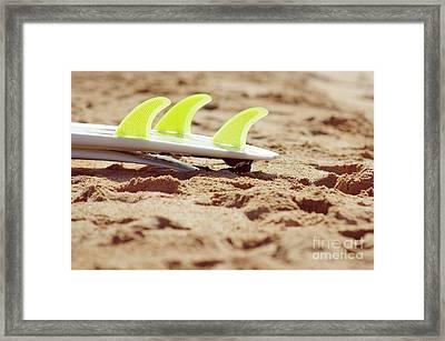 Surfboard Fins Framed Print by Carlos Caetano