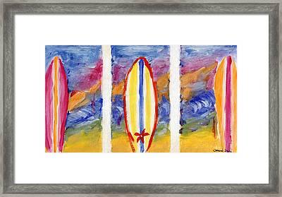 Surfboards 1 Framed Print by Jamie Frier