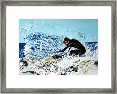 Surfer Framed Print by Betty-Anne McDonald