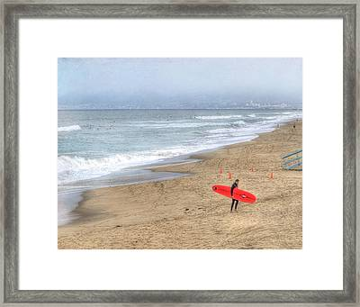 Surfer Boy Framed Print