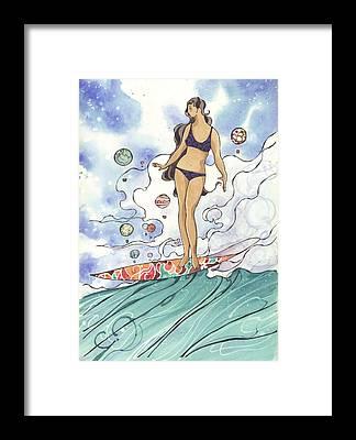 Surf Framed Prints