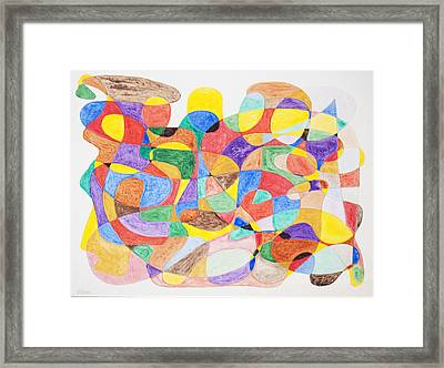 Framed Print featuring the painting Abstract Dance Party  by Stormm Bradshaw