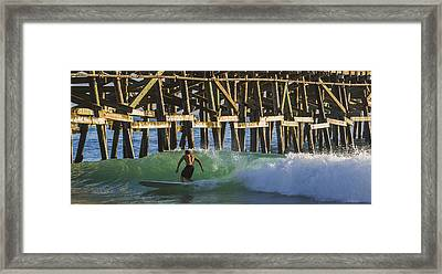 Surfer Dude 2 Framed Print by Scott Campbell