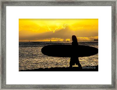 Surfer Dude Framed Print by Juli Scalzi