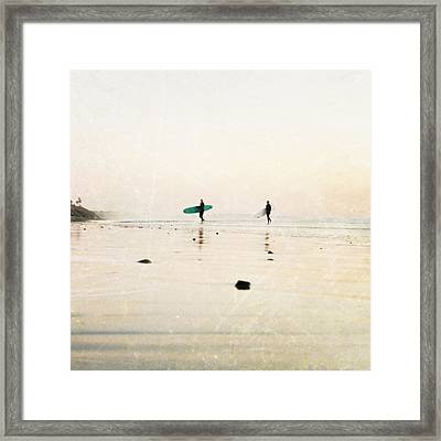 Surfer Dudes  Framed Print by Bree Madden