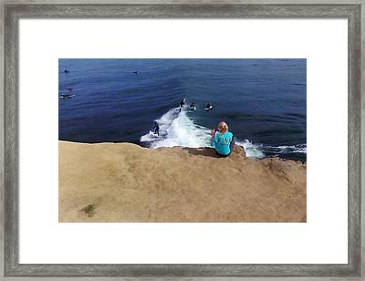 Surfer Fan Framed Print