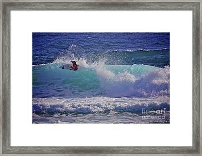 Surfer Girl 1 Framed Print by Heng Tan