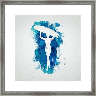 Surfer Girl Framed Print by Aged Pixel