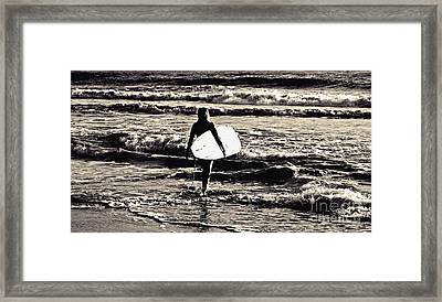 Surfer Girl Framed Print by Scott Allison