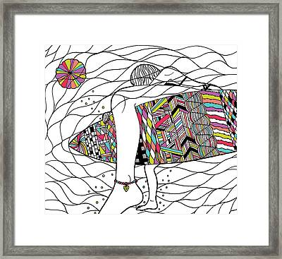 Surfer Girl Framed Print by Susan Claire