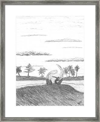 Surfer Heaven Framed Print by Ray Ratzlaff