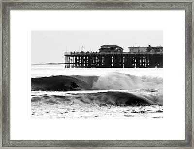 Surfer In Motion Framed Print by Paul Topp