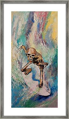 Surfer Framed Print by Michael Creese