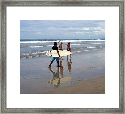 Surfer Reflection Framed Print by Jack Adams