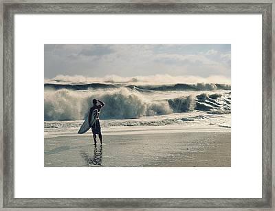 Surfer Watch Framed Print
