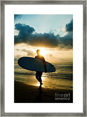 Surfer Framed Print