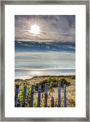 Surfers At Coast Guard Beach Framed Print