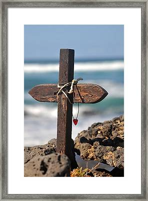 Surfers Cross  Framed Print