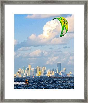 Surfin' Miami II Framed Print