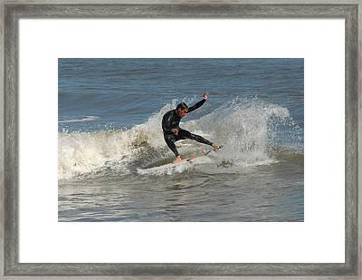 Surfing 436 Framed Print by Joyce StJames