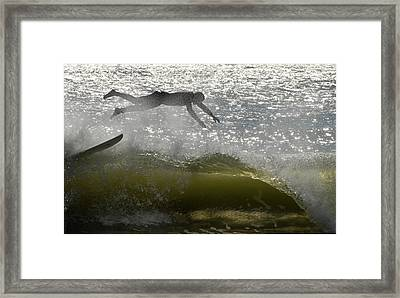 Surfing 443 Framed Print by Joyce StJames