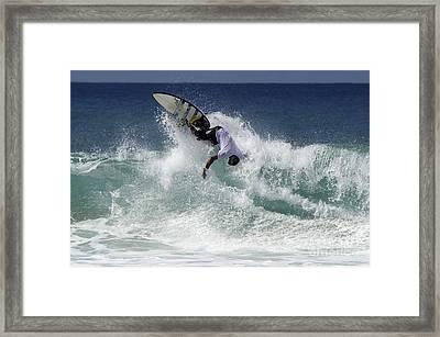 Surfing Brazil 2 Framed Print