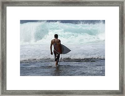 Surfing Brazil 3 Framed Print