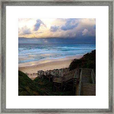 Surfing Dawn Framed Print by Tim Nichols