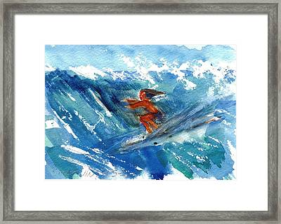 Surfing I Framed Print by Ramona Wright