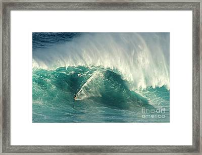 Surfing Jaws 2 Framed Print by Bob Christopher
