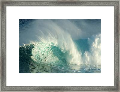 Surfing Jaws 3 Framed Print by Bob Christopher