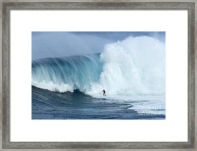 Surfing Jaws 4 Framed Print by Bob Christopher