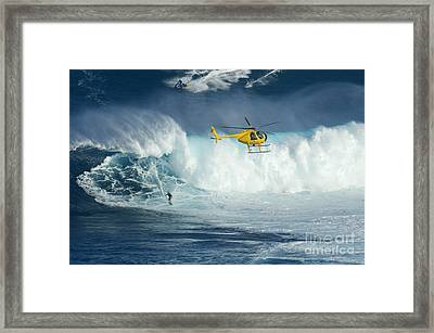 Surfing Jaws 6 Framed Print by Bob Christopher