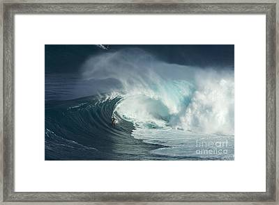 Surfing Jaws Fast And Furious Framed Print