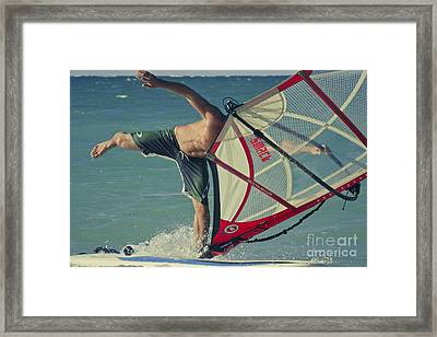 Surfing Kanaha Maui Hawaii Framed Print by Sharon Mau
