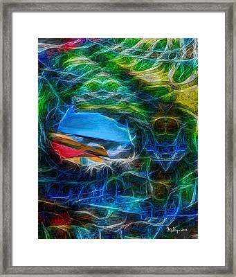 Surfing Framed Print