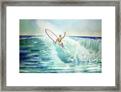 Surfing California Framed Print