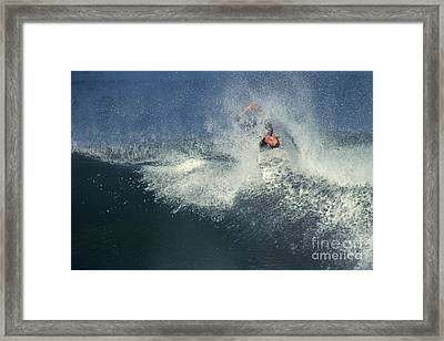 Surfing Framed Print by Ron Sanford