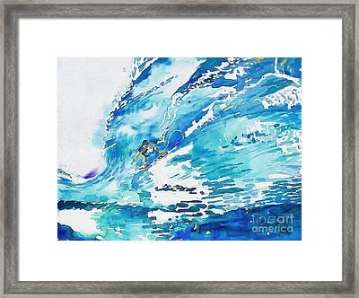 Surfing San Clemente Framed Print