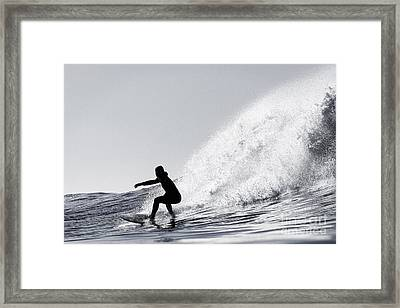 Surfing The Avalanche Framed Print by Paul Topp